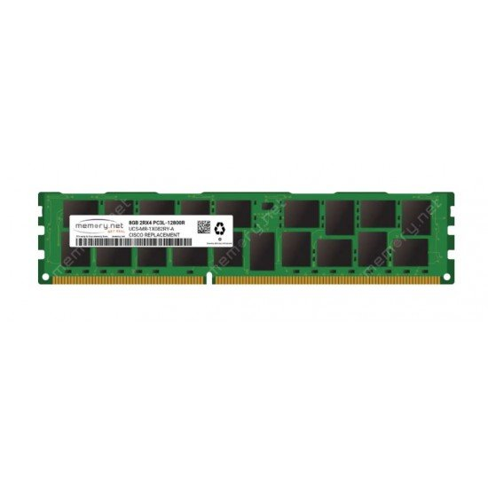 CISCO 8GB 2Rx4 PC3-12800R DDR3-1600MHz Memory UCS-MR-1X082RY-A